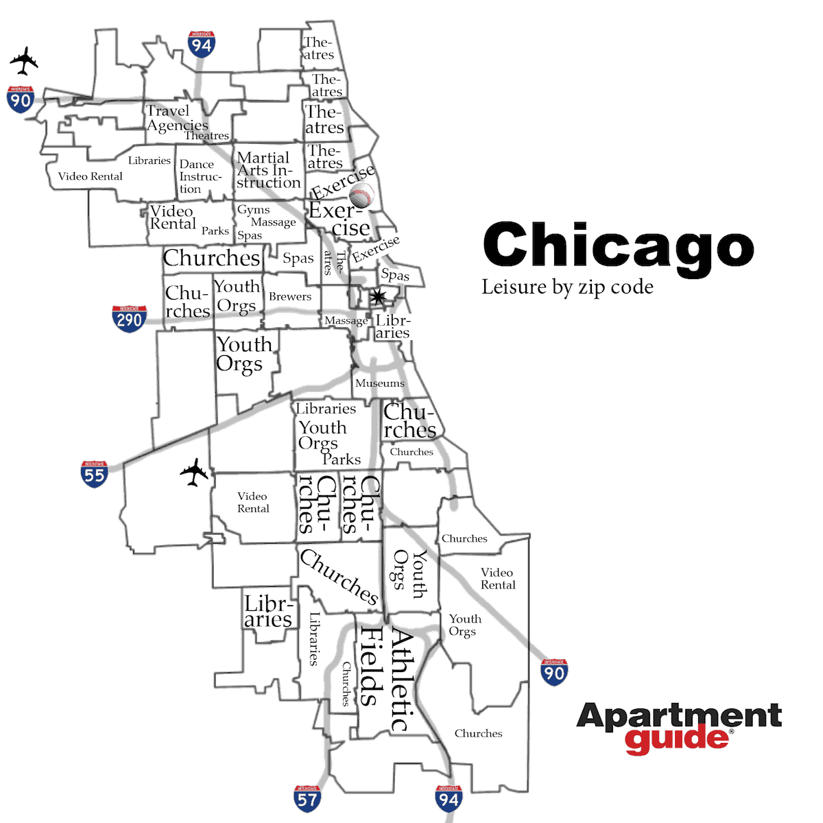 chicago leisure by zip code