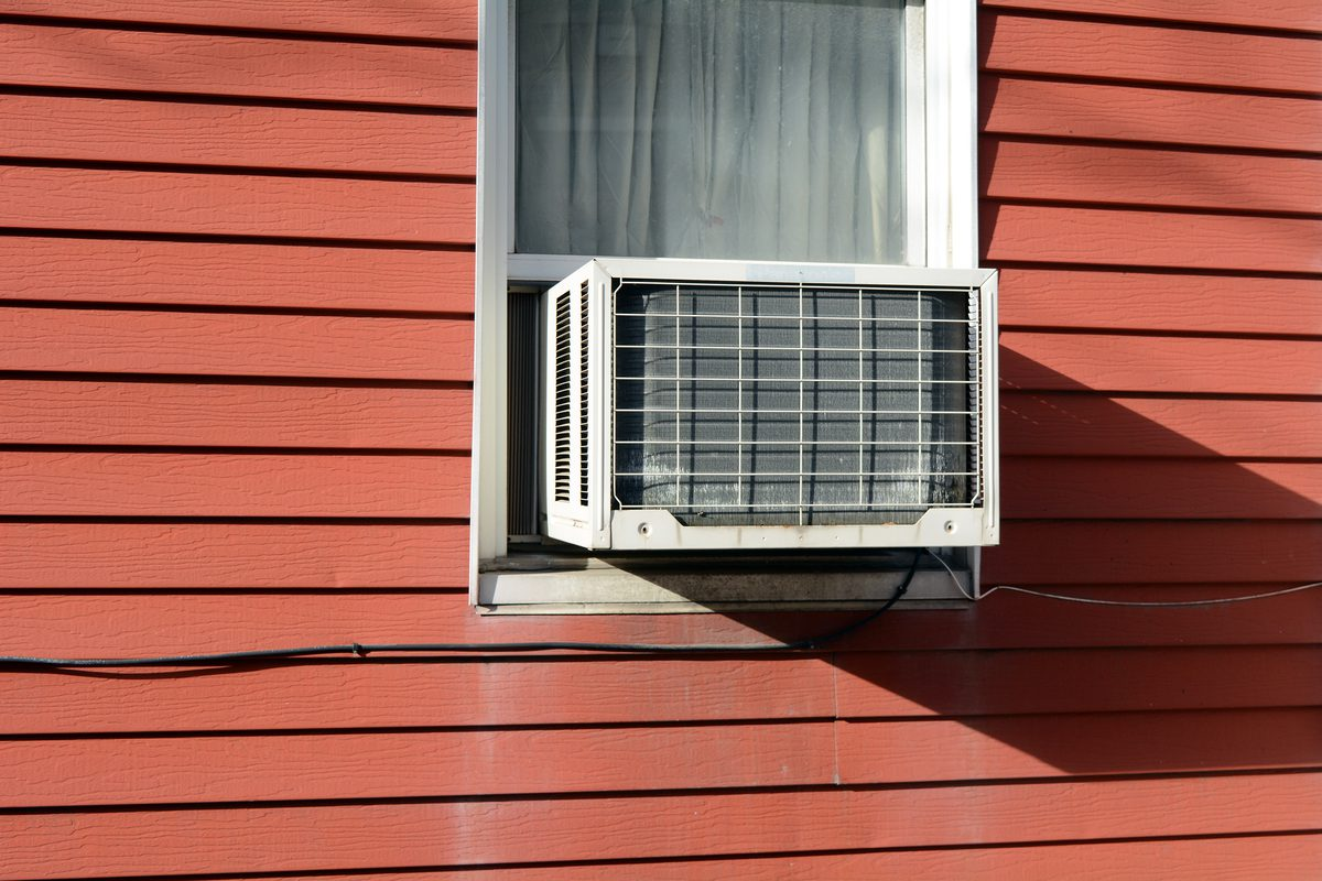 Window unit for air conditioning.
