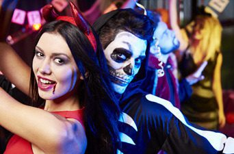 Dancers at a Halloween party
