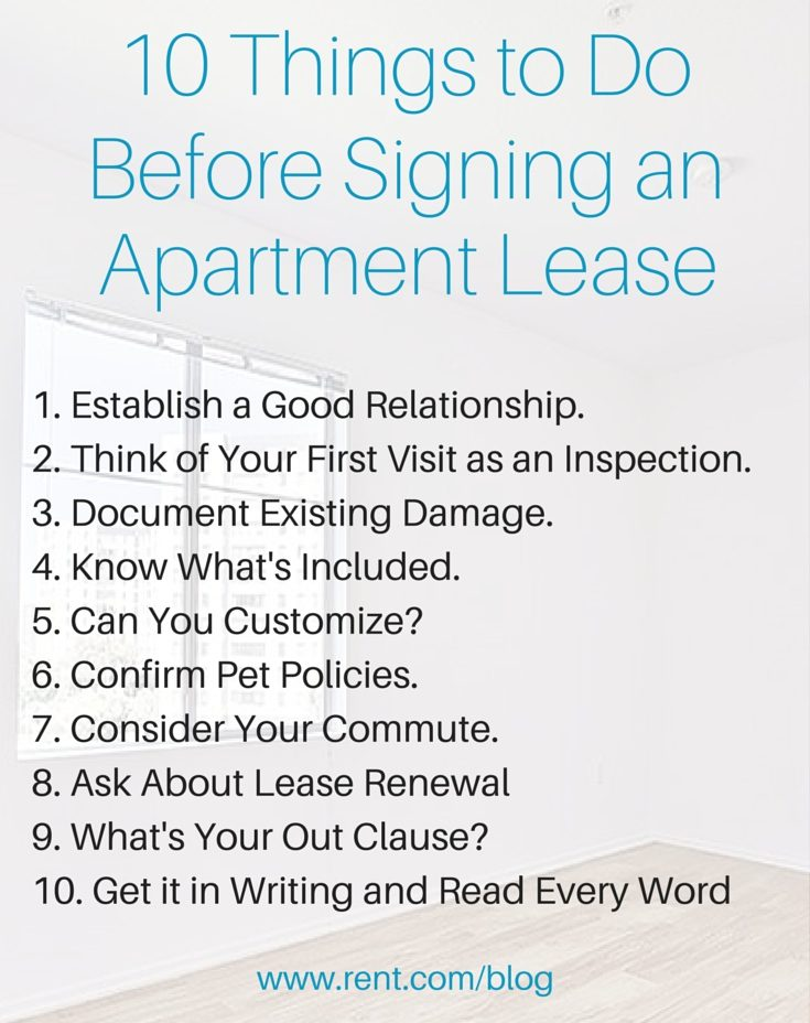 10 Things to Do Before Signing an Apartment Lease