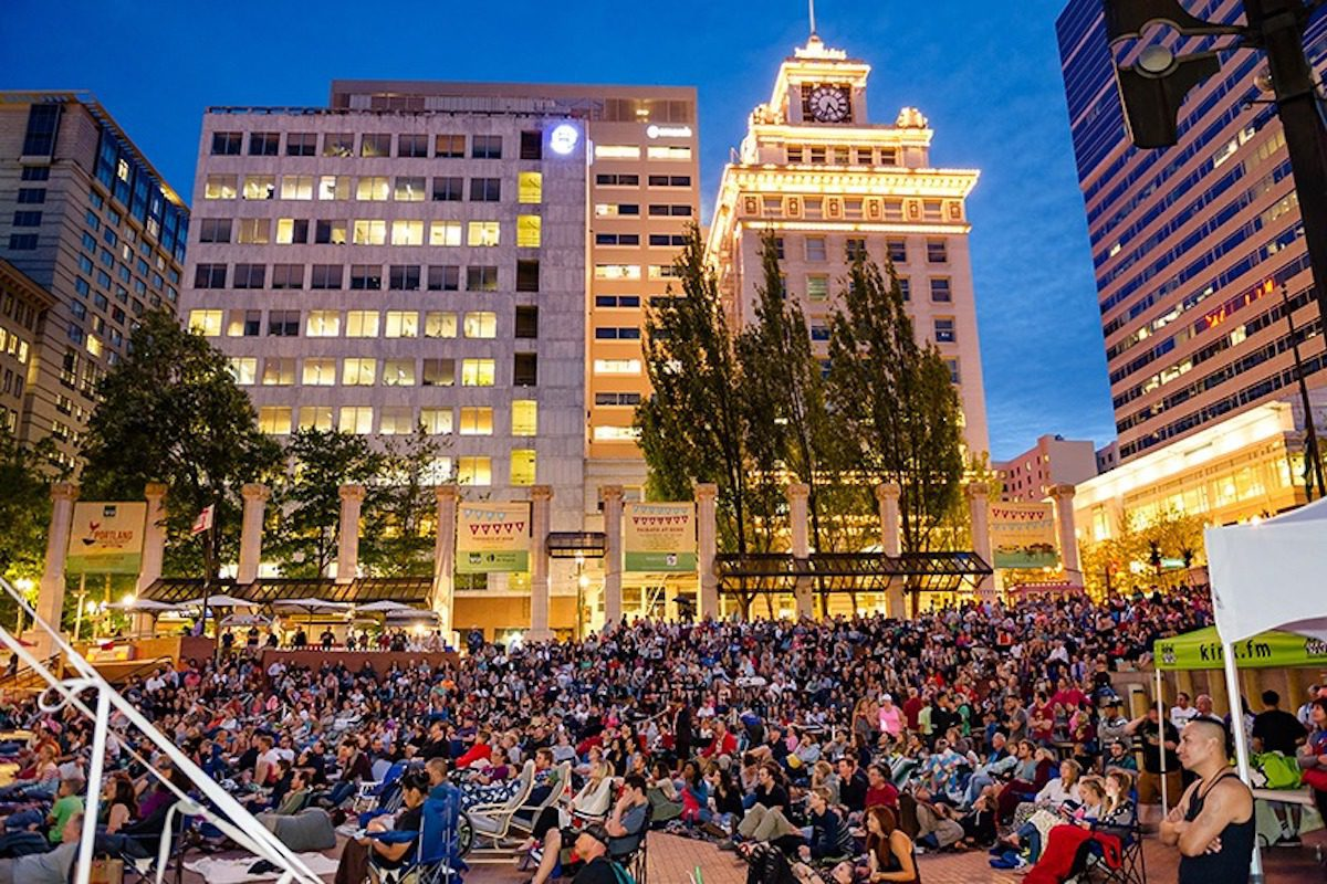 Pioneer Courthouse Square — free things to do in portland