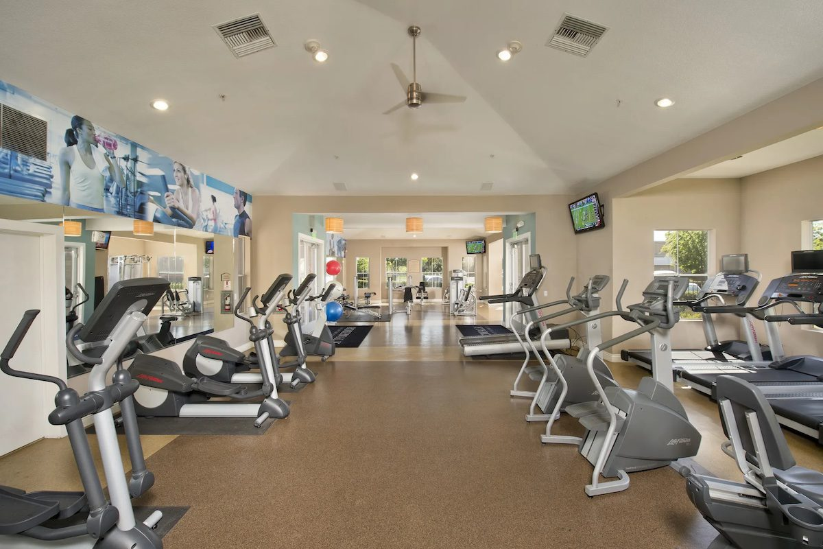 Most expensive apartment in San Jose fitness center